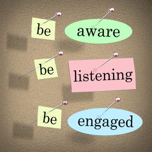 being aware and engagement in elearning