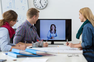 Business Conference On Skype