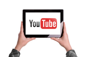 Youtube Logo On Digital Tablet